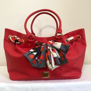 Moschino Red Tote Bag New